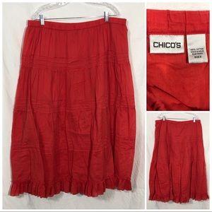 Chicos full skirt size large